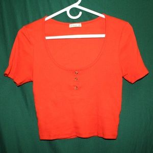 Vibrant Orange Crop Top